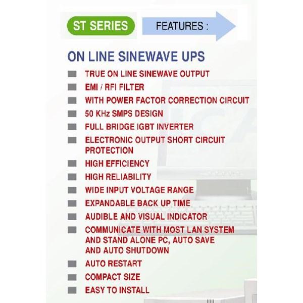 UPS ST-831C (1600VA - TRUE ONLINE UPS SINEWAVE)