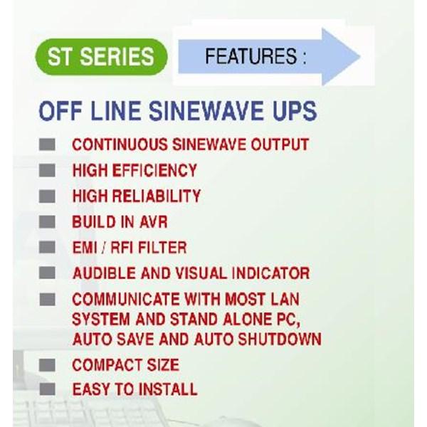 UPS ST-1023B (2000VA - OFFLINE INTERACTIVE SINEWAVE)