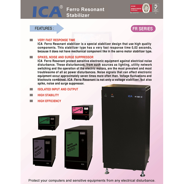 FR-1502C3 Voltage Stabilizer (15KVA - Ferro Resonant Stabilizer)