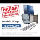 PAKET ON-GRID 1KW (Solar Panel dan Grid-Tied Inverter Komplit Terpasang) 1