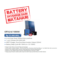 PAKET OFF-GRID 1000W (Panel Tenaga Surya dan SMART Inverter Komplit)