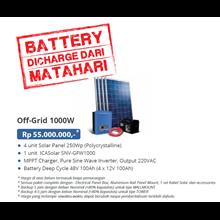 PAKET OFF-GRID 1000W (Panel Tenaga Surya dan SMART Inverter Komplit)