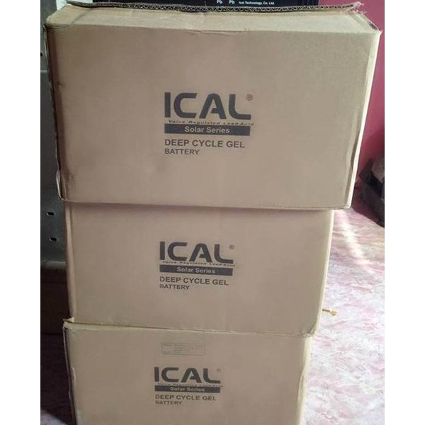 Aki Kering ICAL-LIP12200G (12V 200Ah Deep Cycle Gel Battery)