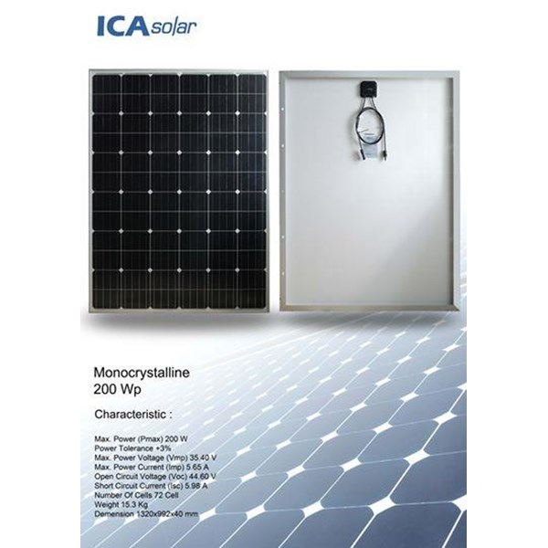 SOLAR PANEL 200Wp - Monocrystalline