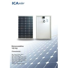 SOLAR PANEL 100Wp - Monocrystalline