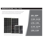 SOLAR PANEL 50Wp - Monocrystalline 6