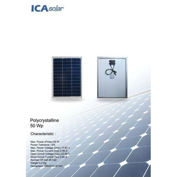 SOLAR PANEL 50Wp - Monocrystalline