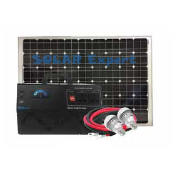 Paket Solar Home System 250Wh Up To 500W With Battery External (SHS-12305IC AC System)