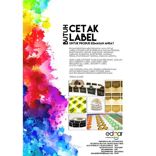 Cetak label sticker by edgar printing