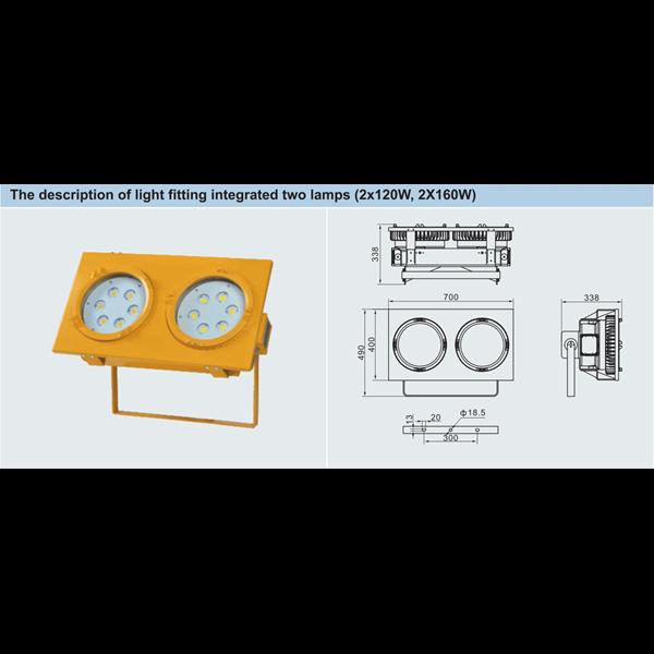 LAMPU  GANTUNG LED EXPLOSION PROOF BDD95 WAROM / LAMPU LED EXPLOTION PROOF/ LAMPU LED ANTI LEDAK