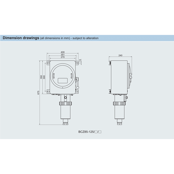 PLUG SOCKET EXPLOSION PROOF SERI BCZ85 ALUMUNIUM  WAROM ATEX / plug socket explotion proof / plug socket anti ledak
