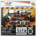 Exd Flameproof Cable Gland CMP model: 20s E1FW M20 SWA Armour Brass Nickel Plated c/w locknut washer & shroud 4