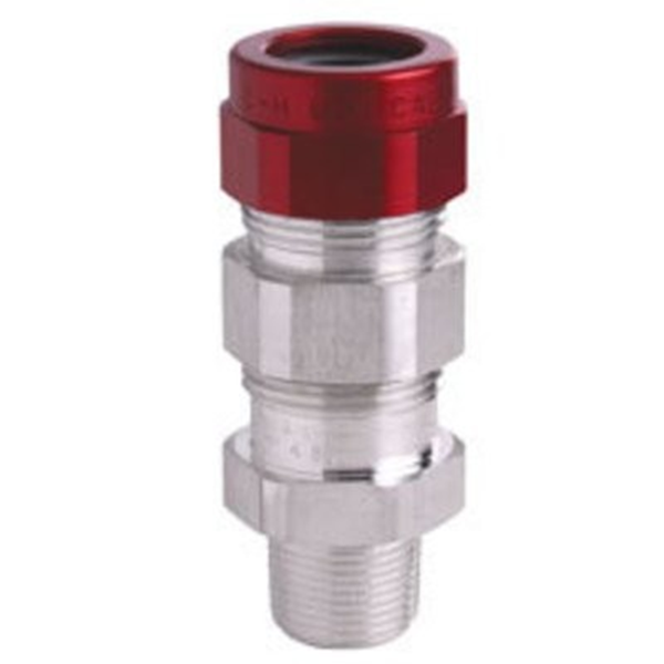 "Flameproof Cable Gland CROUSE HINDS TMCX285 3/4""NPT Corrugated Armour Aluminium c/w compound"