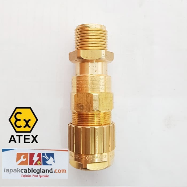 Exd Flameproof Cable Gland HAWKE for SWA Armour Brass Nickel Plated Model : 501/453/RAC/O/M20