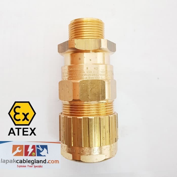 Exd Explosion Flameproof Cable Gland HAWKE for SWA SWB STA Armour  Model : 501/453/RAC/B/M25 Brass Nickel Plated