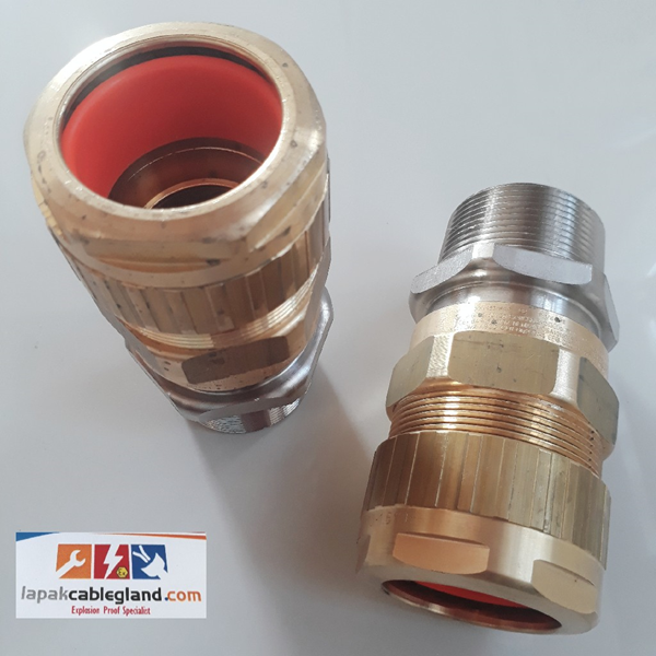 "Exd Explosion Flameproof Cable Gland HAWKE for SWA SWB STA Armour  Model : 501/453/RAC/C2/  1-1/2""NPT Brass Nickel Plated"