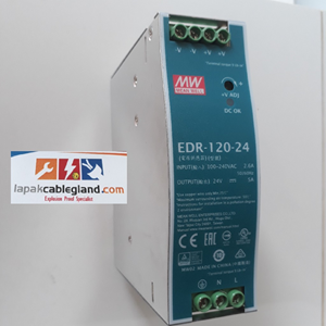 From Din Rail Power Supply Industri MEANWELL 24Vdc 5A 120W Model : EDR-120-24 omron phoenix quint 0