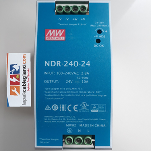 Dari Din Rail Power Supply Industri 24Vdc MEANWELL 10A 240W NDR-240-24 untuk panel automation phoenix weidmuller omron 1