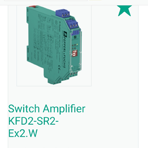 From Safety Barrier IS 2-channels PEPPERL+FUCHS KFD2-SR2-EX2.W utk Digital Input (DI)  Switch Amplifier Safety relay   0