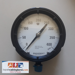 From Pressure Gauge ASHCROFT 4 1/2 inch 2