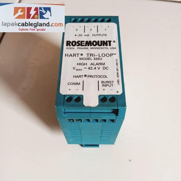 HART Tri Loop ROSEMOUNT 333U u/ pecah signal HART jadi 3 signal analog signal converters