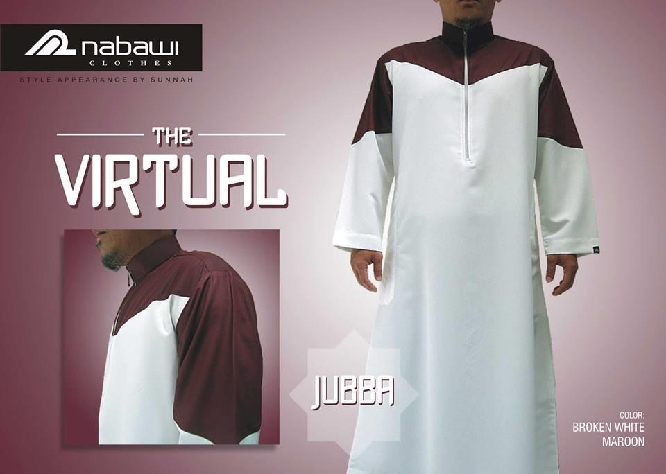 Sell Nabawi Clothes Moslem Men Jubba The Virtual White Maroon From