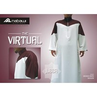 Nabawi Clothes-Baju Muslim Pria-Jubba The Virtual White Maroon