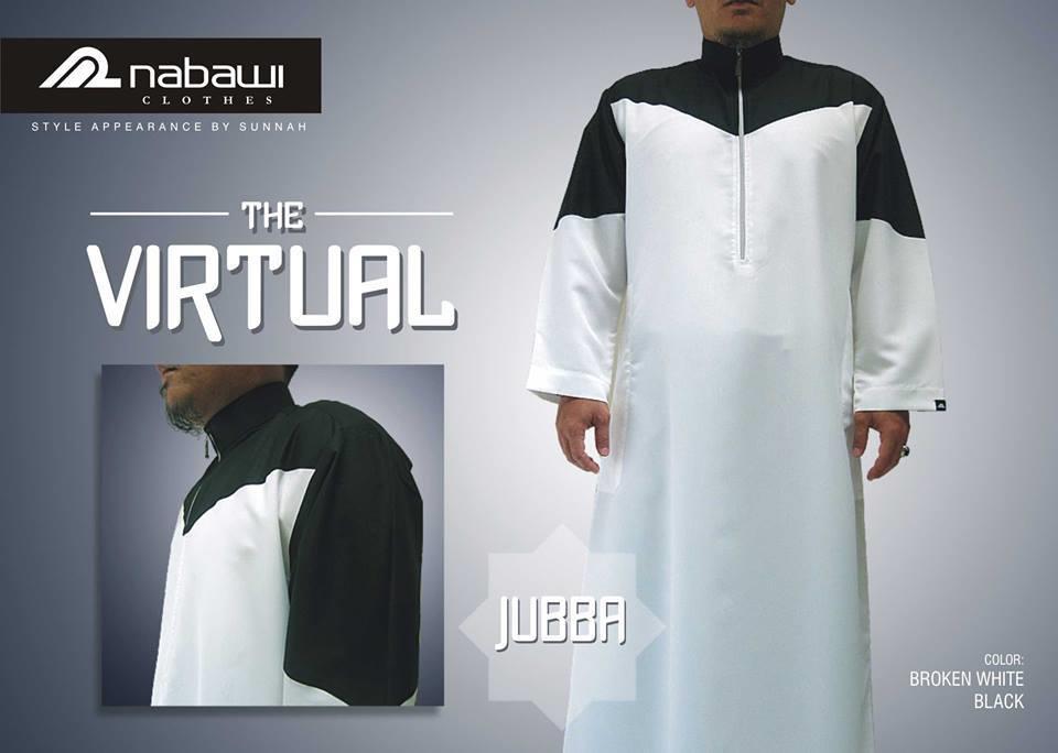 Jual Nabawi Clothes Baju Muslim Pria Jubba The Virtual White Black Harga Murah Bandung Oleh Toko Konter
