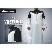 Nabawi Clothes-Baju Muslim Pria-Jubba The Virtual White Black