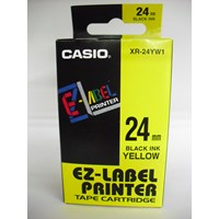 Jual Casio 24mm XR-24YW1 Black Ink on Yellow Tape