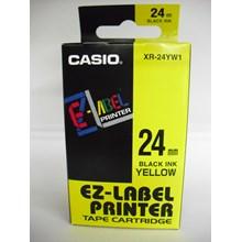 Pita Coding Casio 24mm XR-24YW1 Black Ink on Yellow Tape
