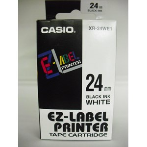 From Casio XR-24WE1 24 mm Black Ink on White  0