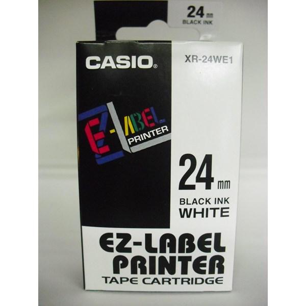 Casio 24mm XR-24WE1 Black Ink on White