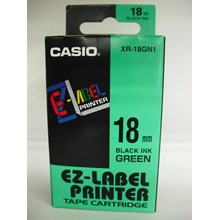 Casio 18mm XR-18GN1 Black Ink on Green