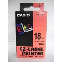 Jual Casio 18mm XR-18RD1 Black Ink on Red