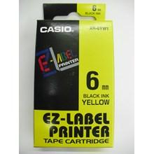 Pita Coding Casio 6mm XR-6YW1 Black Ink on Yellow