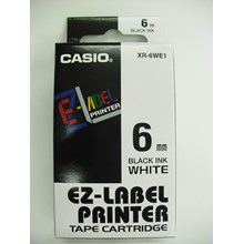 Pita Coding - LEBEL Casio 6mm XR-6WE1 Black Ink on White