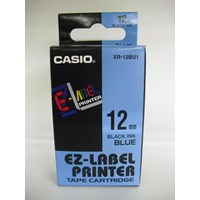 Pita Coding Casio 12mm XR-12BU1 Black Ink on Blue Tape