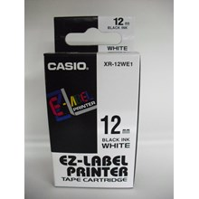 Pita Coding Casio 12mm XR-12WE1 Black Ink on White Tape