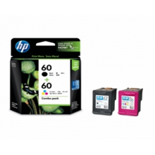 HP 60 Black Color Original Ink Cartridge Combo Pac