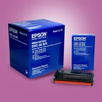 CARTRIDGE EPSON ERC-38 BLACK AND RED 1