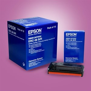 CARTRIDGE EPSON ERC-38 BLACK AND RED