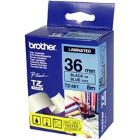 Jual BROTHER LABEL TAPE TZE-261 ( Black On White 36mm 2