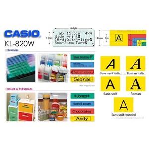Dari Casio EZ-Label Printer 2