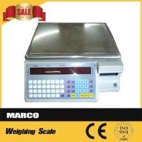 Supermarket Label Printer Scale Weighing Scale Barcode Printing Scales 1