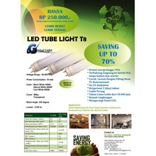 Lampu LED T8 16 Watt Global Light