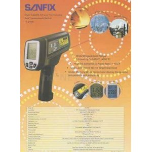 Dual Laser Infrared Thermometer & Thermocouple Socket Sanfix It2400