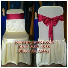 Chair covers futura press organdy Ribbon