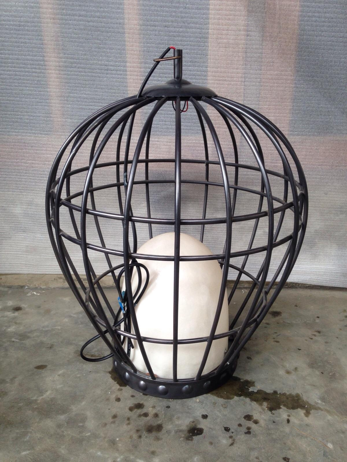 Jual Kerajinan Lampu Gantung Pipa Tembaga Model Sangkar