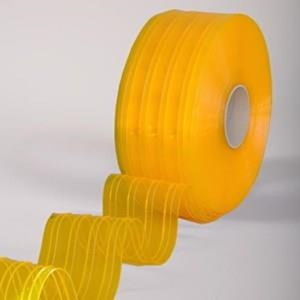 Tirai PVC / Plastik Ribbed Double Yellow